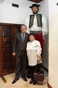 Jarmila Vítoslavská, členka OHK v Prostějově, se podílela na záchraně kroje obra Drásala