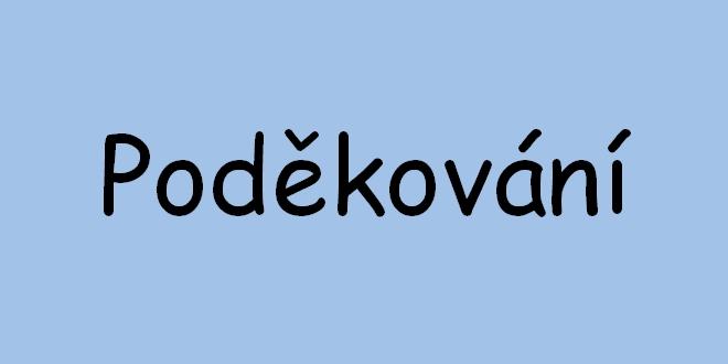 PODĚKOVÁNÍ ČLENŮM OHK V PROSTĚJOVĚ – ALIKA a.s., Pila Javořice a.s.