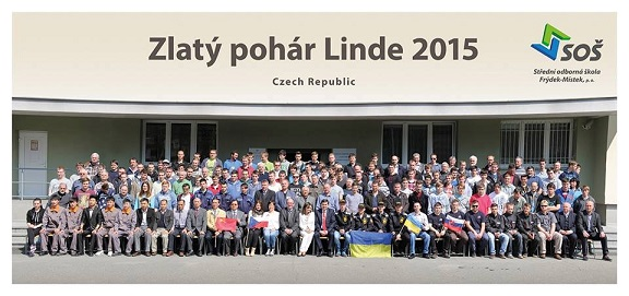 Švehlovka na mezinárodní svářečské soutěži Zlatý pohár Linde 2015