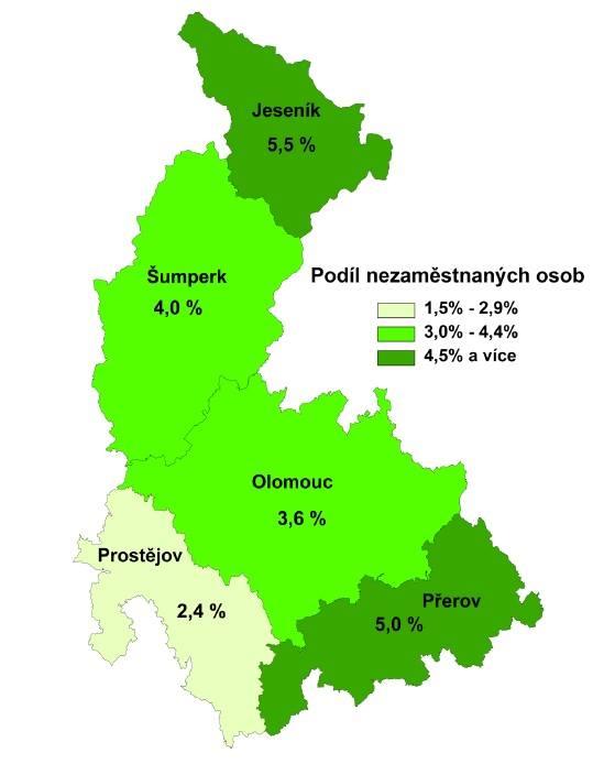 Prostějovsko má rekordní nezaměstnanost