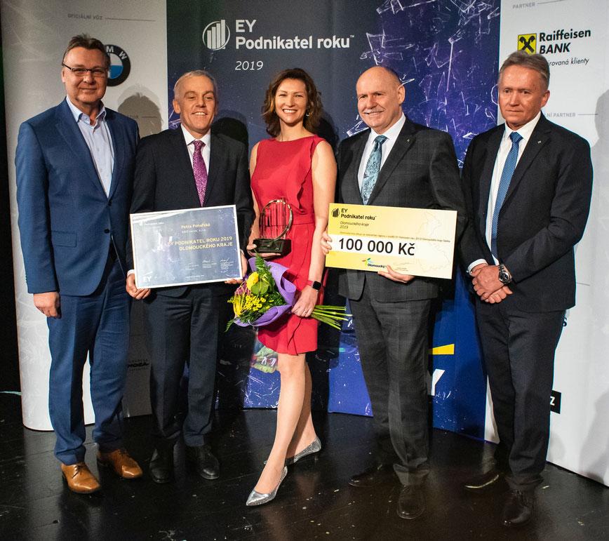Společnost EY vyhlašuje patnáctý ročník soutěže EY Podnikatel roku Olomouckého kraje